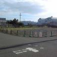 既存フェンス撤去、仮囲い設置