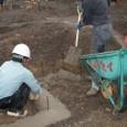 給水管の検査、捨てコンクリート