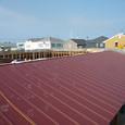 木炭塗料塗りと屋根葺き