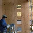 外壁構造用合板張りほぼ終了2