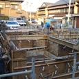 地中梁型枠施工