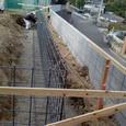 深基礎砕石敷き及び鉄筋加工・組立