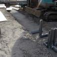 設備の土間先行配管及び土間断熱材敷き込み