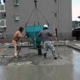 べた基礎(ベース)コンクリート打設