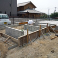 建物外周コンクリート打設 2.型枠