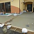 スロープコンクリート打設