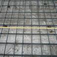 コンクリート打設はあいにくの雨模様で、月曜日に延期