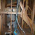 階段作成取りかかり及び外装工事開始