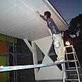 アプローチ部分シリコン塗料ローラー塗り