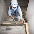 屋外階段防水モルタル塗り