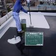 屋上防水トップコート塗り
